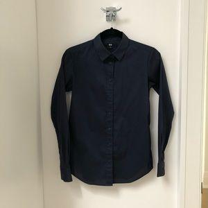 Uniqlo Dress Shirt. Navy. Non-iron. Size XS.